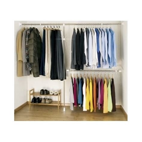 extendable hanging rod system walk in wardrobe closet