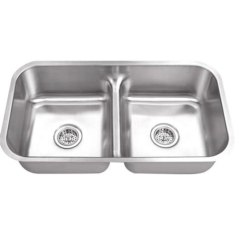 undermount kitchen sinks stainless steel ipt sink company undermount 33 in 18 gauge stainless steel kitchen sink in brushed stainless