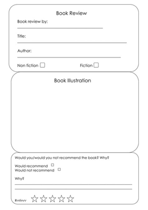 book template ks1 book review template by uk teaching resources tes