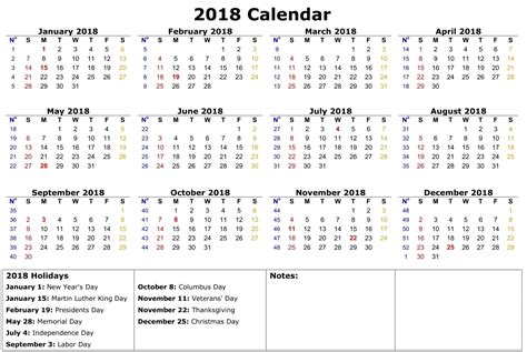 printable yearly calendar 2018 free printable 2018 calendar template free printable