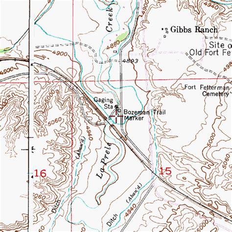 bozeman trail map bozeman trail marker wy