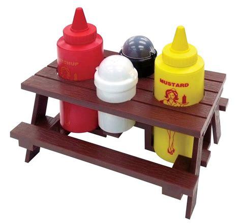 table caddy set outdoor condiment set picnic table garden bbq tray