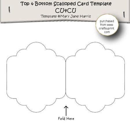 bottom heel place card template top bottom scalloped card template cu4cu special