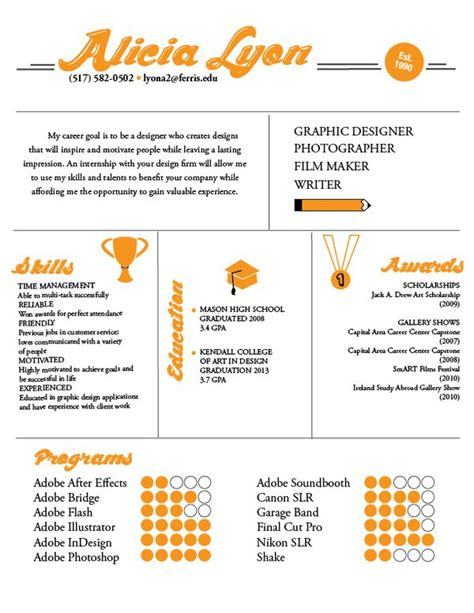 29 best infographic resumes images on creative