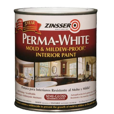 acrylic paint interior shop zinsser white semi gloss acrylic interior paint and