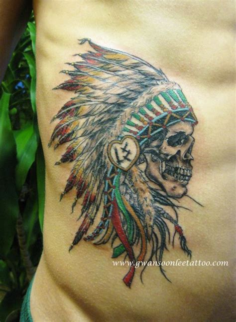 indian chief tattoo skull chief design gwan soon tattoos