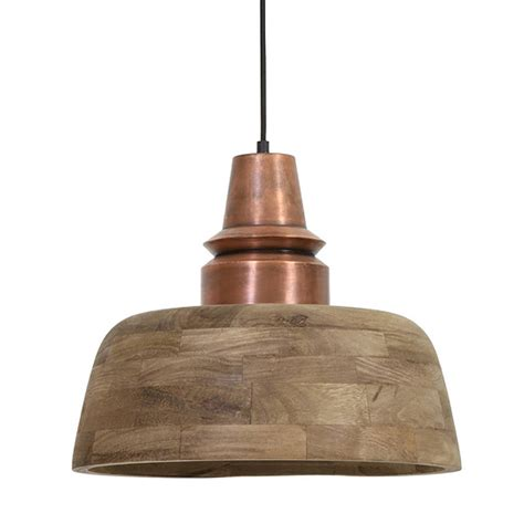 Wood Pendant Light by Industrial Wood Pendant Light Copper By Primrose