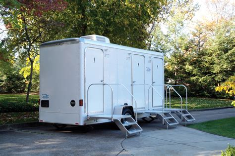 bathroom trailers portable restroom trailers porta potties custom suite