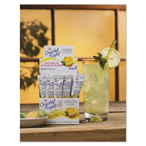 crystal light water flavor packets crystal light 79600 flavored drink mix lemonade 30 17oz