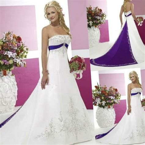 White Purple Dress white and purple wedding dresses update july fashion 2018