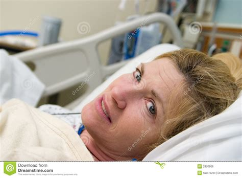 sick patient in hospital bed stock photo image 2950906