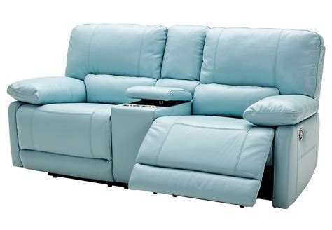 blue reclining sofa and loveseat kuka light blue power recliner leather match