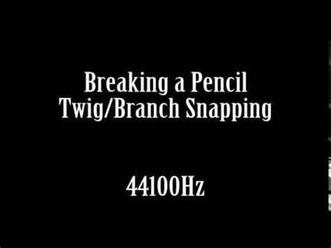 Breaking Twig breaking a pencil twig branch stick snapping sound effect