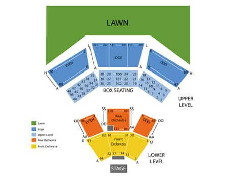 Wolf Trap Calendar Wolf Trap Seating Chart Events In Vienna Va