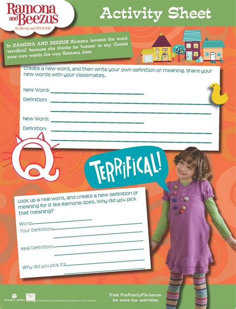 Ramona Forever Worksheets redirecting to http www sheknows parenting slideshow