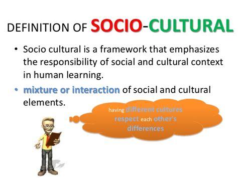 cultural background definition socio cultural diversity
