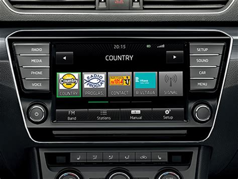 swing radio the new škoda superb infotainment škoda