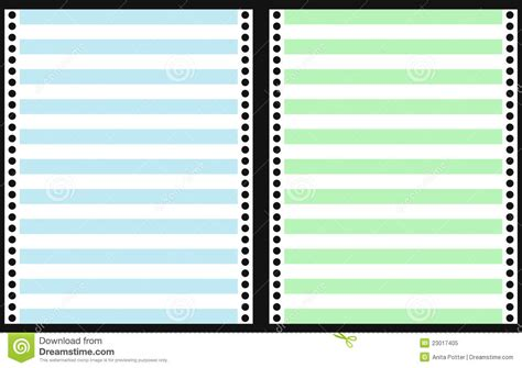 printable dot matrix paper set of dot matrix printer paper royalty free stock photo