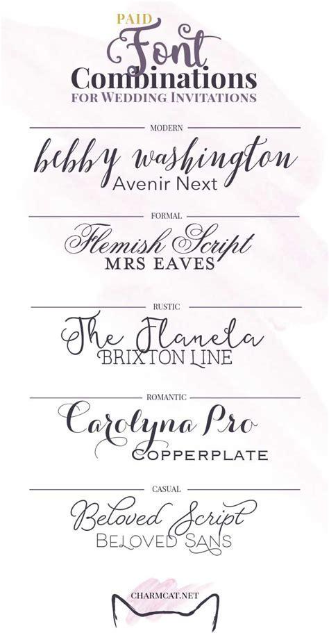 Great Font Combinations for Wedding Invitations   CharmCat