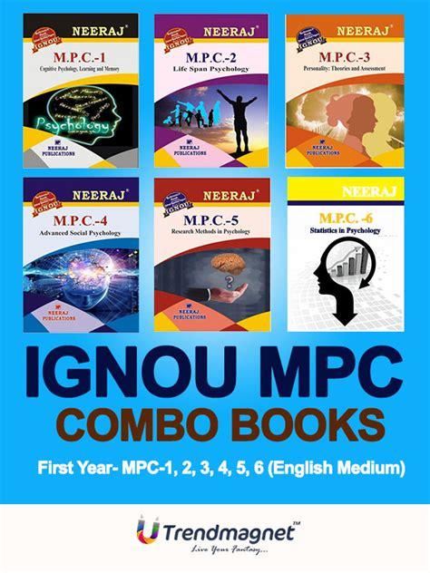 Ignou Mba Course Books by Ignou Mpc 1 To Mpc 6 Ma Psychology Mapc Combo Books