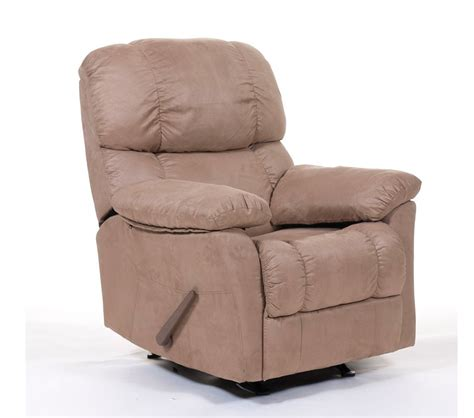 suede recliner dreamfurniture com ds 97 001 01 rocker recliner in beige