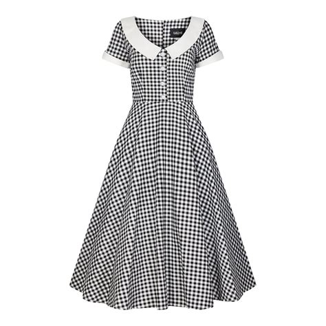 gingham swing dress collectif mainline madeline gingham swing dress