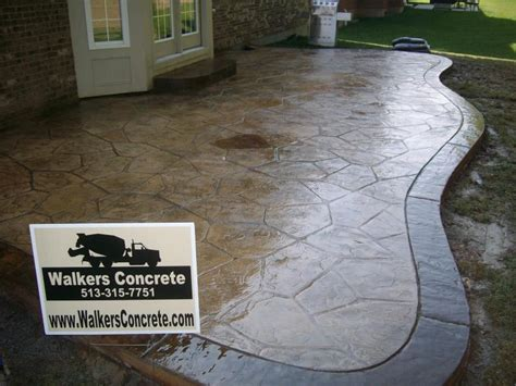 How To Clean Colored Concrete Patio by Walkers Concrete Llc Concrete Projects Cincinnatisted
