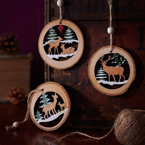 wooden tree decorations wooden log tree decoration by the home