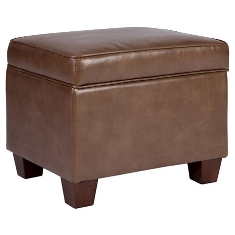 target leather ottoman threshold bonded leather storage ottoman target