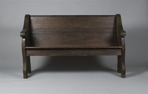 pew church bench late 19th c oak church pew bench