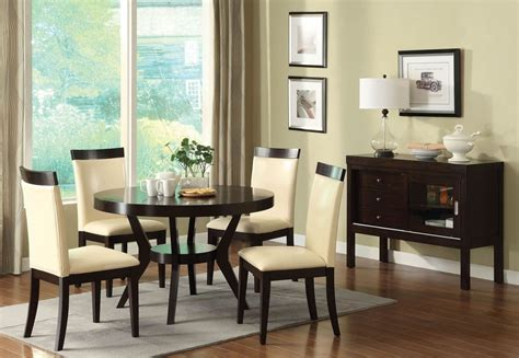 espresso dining room set downtown i espresso round pedestal dining room set