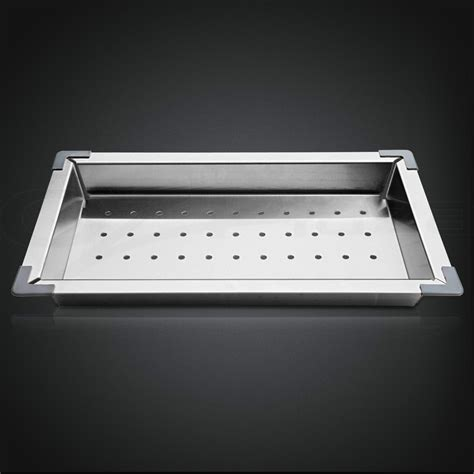 Kitchen Sink Tray 304 Stainless Steel Kitchen Sink Colander Drainer Draining Tray Strainer Ebay