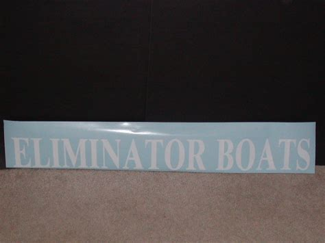 eliminator boat decals eliminator boats decal 4 quot tall x 36 quot long