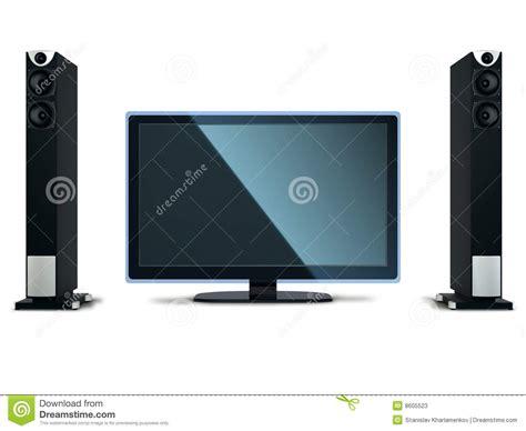 Speaker Tv tv with speakers stock photos image 8605523