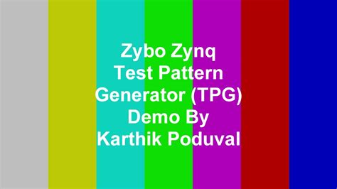 pattern generator in java zybo zynq test pattern generator demo youtube