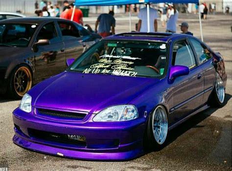ricer honda hatch purple ek coupe ek coupe coupe and purple