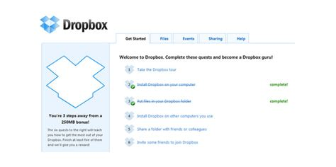 dropbox benefits the power of the progress bar as a usability feature