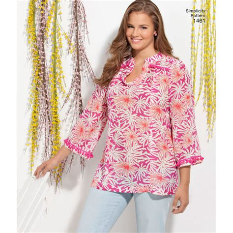 pattern review simplicity 1461 pattern for misses plus size tunic simplicity