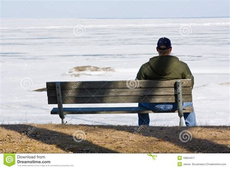 lonely man on bench sad man on a bench stock image image of outdoors