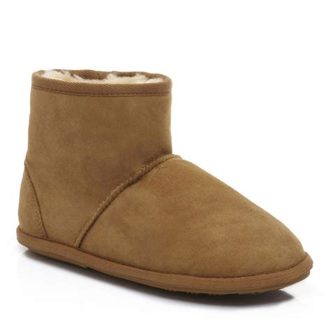 slipper boots mens mens shearling slipper booties