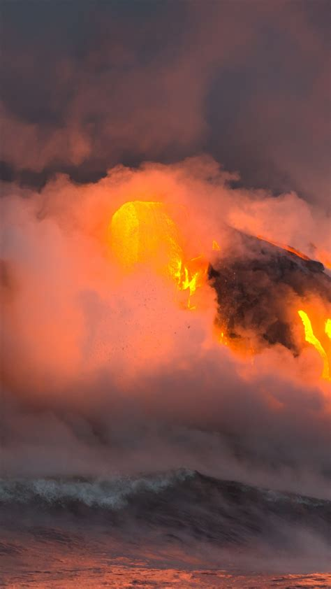 wallpaper hawaii   wallpaper  eruption volcano