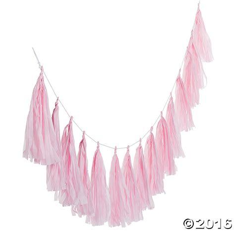 Tassel Garland Warna Light Pink baby shower room decorations supplies canada open a