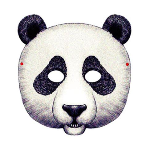 Mata Panda spin on creativity free printable animal masks