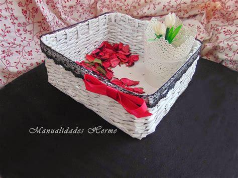 como hacer cestas de papel de periodico manualidades herme diy como hacer una cesta de papel de