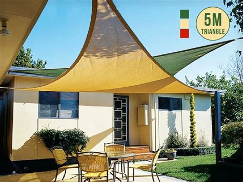 Triangle Awning by Sun Shade Sail Awning Triangle 5m Sales We
