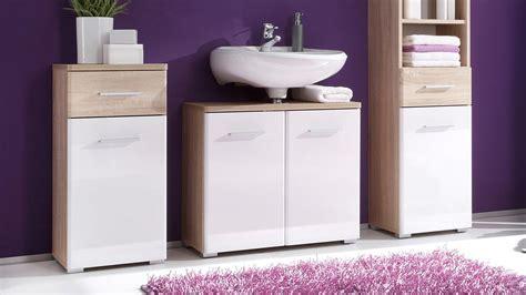 badezimmer unterschrank sonoma eiche kommode barolo badezimmer 1 t 252 rig sonoma eiche wei 223 glanz