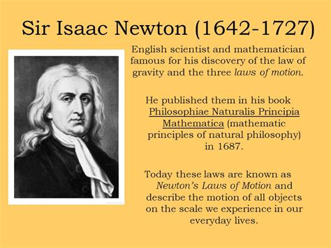 Isaac Newton Biography Powerpoint | sir isaac newton is ranked no 24 out of the 100 people