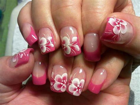 ideas  hawaiian flower nails  pinterest