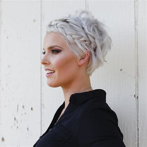 photos of very short grey hairstyles with mahogany highlights 19 cute braids for short hair you will love short hair