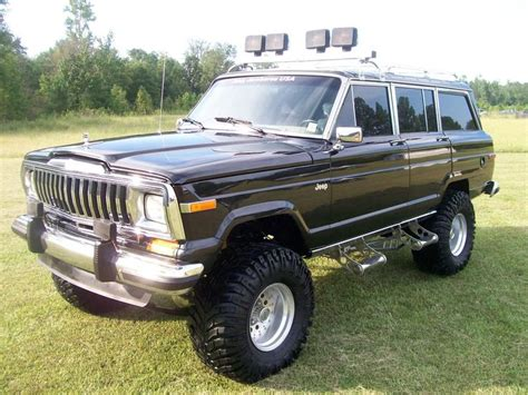 jeep wagoneer lifted 1988 jeep grand wagoneer almost what i want in my waggy
